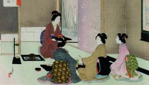 Ceremonia del té. Mizuno Toshikata, c.1900