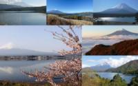 Fuji y sus cinco lagos (Foto: mosaico con material de www.japan-guide.com)