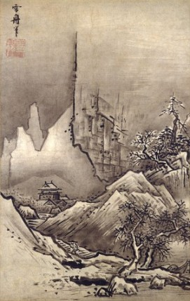 Paisaje de invierno. Tôyô Sesshu. Siglo XIV. Museo Nacional de Tokio