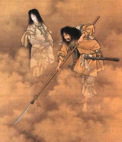 """Izanami e Izanagi"". Eitaku Kobayashi (1890). (Wikimedia Commons)"