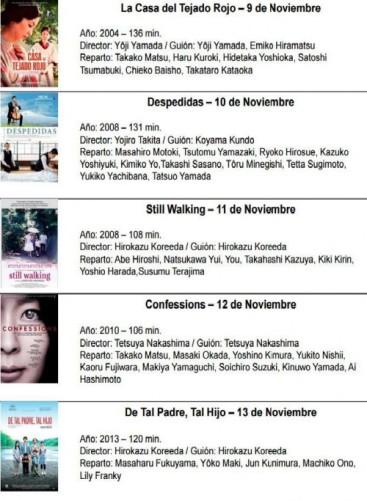 Programa del Ciclo de Cine