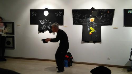 Osamu Kuroda durante su actuación