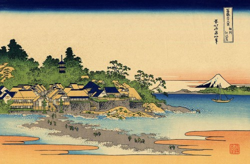 Enoshima, provincia de Sagami. Utagawa Hiroshige