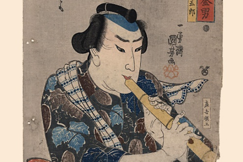 Flautista. Utagawa Kuniyoshi (Fuente: Wikimedia Commons)
