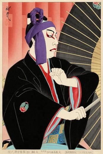 Ichikawa Ebizo como Sukeroku. Masamitsu Ota (1954)