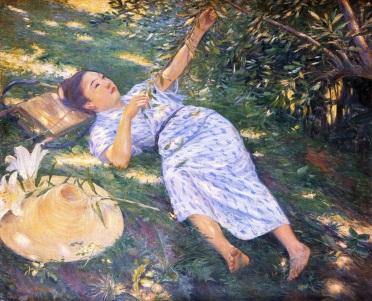 Bajo los árboles. Kuroda Seiki (1898)