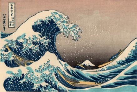 Gran Ola de Kanagawa, Katsushika Hokusai. Wikimedia Commons