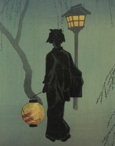 Plum Blossoms at Night_ Shotei