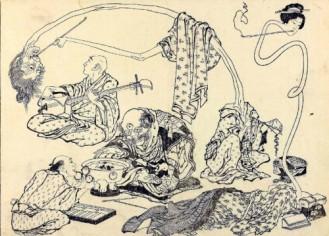 Rokuro-kubi. Hokusai Manga. (Wikimedia Commons)