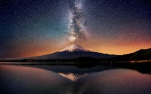 Vía Láctea sobre el Monte Fuji. Foto: cortesía de duendevisual.wordpress.com)