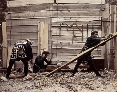 Carpinteros. Felice Beato (1880)