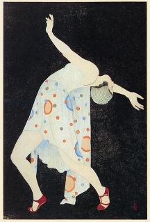 Kobakayawa Kiyoshi. Curved line of the instant (1934). Representación de la frívola modan garu (chica moderna).