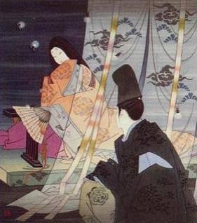 Hombre y mujer Heian