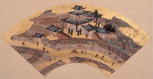 Kanô Soshu, Nanban-ji, fin. siglo XVI. (Foto: Museo de Kobe)