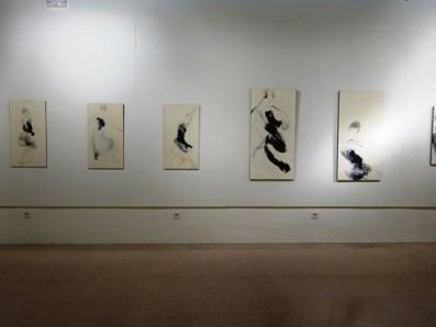Obras de Kumiko Fujimura en La danza del pincel, Fraga, 2016