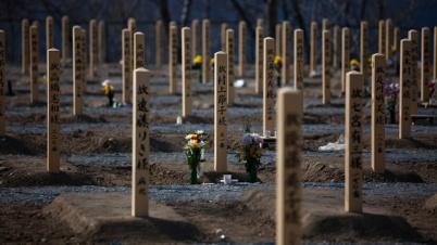 Tumbas de fallecidos por el tsunami de 2011. (Fuente: CNN Mexico)