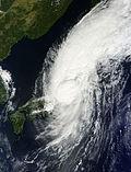 Japón azotado por un tifón en 2013. (Fuente: Wikimedia Commons)