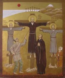 San Pablo Miki, japonés convertido al cristianismo en el siglo XVI, fue martirizado en Nagasaki por orden del shôgun. (Fuente: Wikimedia Commons)