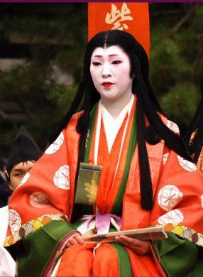 La escritora Murasaki Shikibu, autora de Genji Monogatari (s.X DC), representa el modelo-femenino en la época Heian. (Fuente: takebackhalloween.org)