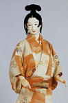 Joven con moño chino. Fuente: Museo del Traje de Kioto)