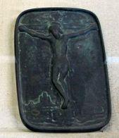 Fumi-e o estampa japonesa en relieve de Cristo. (Fuente: Wikimedia Commons)