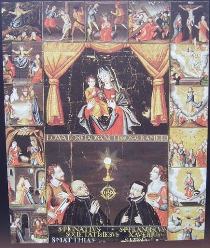 Maria Jugo Genjizu. Pintura religiosa cristiana realizada en el período Edo. (Fuente: Museo de la Universidad de Kioto)