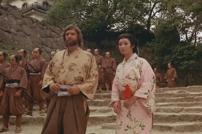Fotograma del telefilm Shôgun (1982), que adapta la novela de James Clavell