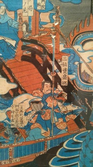 La gran batalla de Dan no Ura, Utagawa Yoshitsuya. (Detalle)