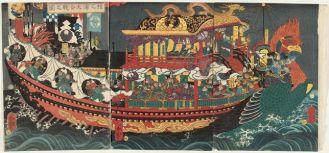 La gran batalla de Dan no Ura, Utagawa Yoshitsuya
