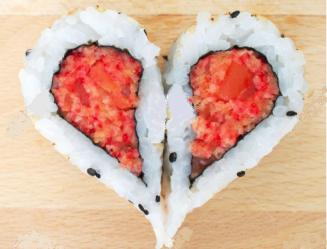 Corazón de sushi